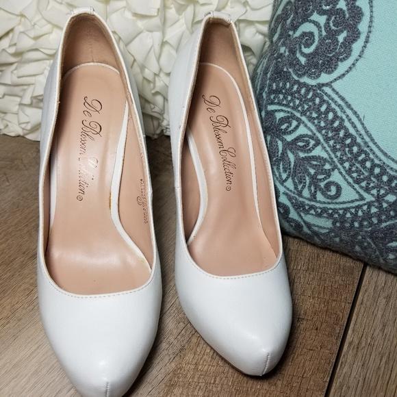888acb641 De Blossom Collection Shoes | Classic White Pumps | Poshmark
